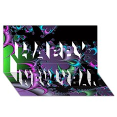 Fractal Dream Happy New Year 3d Greeting Card (8x4)