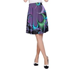 Fractal Dream A Line Skirts