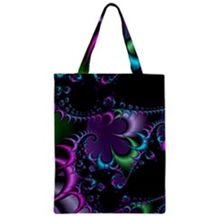 Fractal Dream Zipper Classic Tote Bags