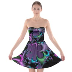 Fractal Dream Strapless Bra Top Dress