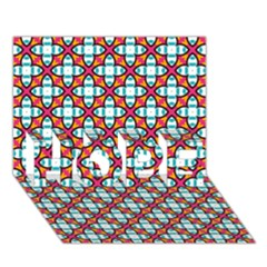 Cute Pretty Elegant Pattern Hope 3d Greeting Card (7x5)