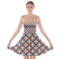 Cute Pretty Elegant Pattern Strapless Bra Top Dress