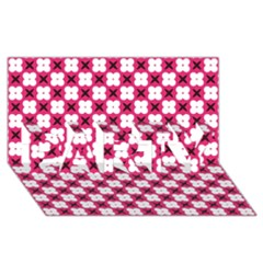 Cute Pretty Elegant Pattern PARTY 3D Greeting Card (8x4)