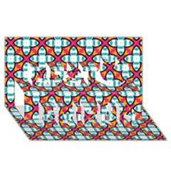 Pattern 1284 Best Friends 3D Greeting Card (8x4)