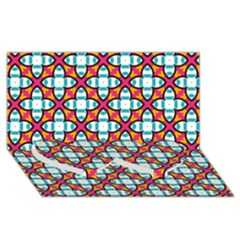 Pattern 1284 Twin Heart Bottom 3D Greeting Card (8x4)