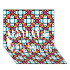 Pattern 1284 You Are Invited 3d Greeting Card (7x5)