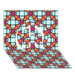 Pattern 1284 Peace Sign 3d Greeting Card (7x5)