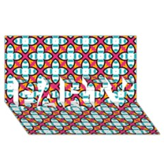 Pattern 1284 PARTY 3D Greeting Card (8x4)