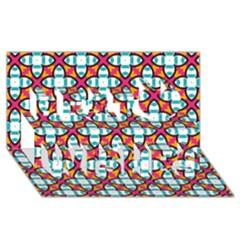 Pattern 1284 Best Wish 3D Greeting Card (8x4)