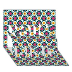 Pattern 1282 You Did It 3D Greeting Card (7x5)