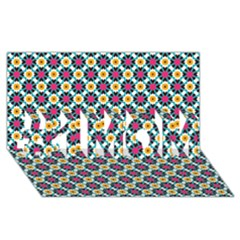 Cute abstract Pattern background #1 MOM 3D Greeting Cards (8x4)
