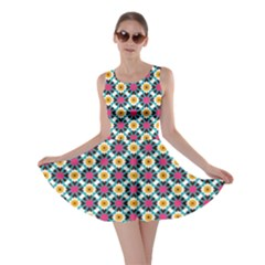 Cute abstract Pattern background Skater Dresses