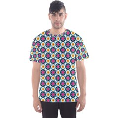 Cute abstract Pattern background Men s Sport Mesh Tees