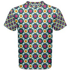 Cute Abstract Pattern Background Men s Cotton Tees