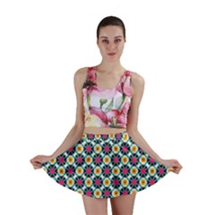 Cute abstract Pattern background Mini Skirts