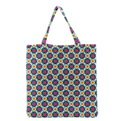 Cute abstract Pattern background Grocery Tote Bags
