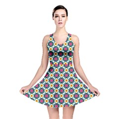 Cute Abstract Pattern Background Reversible Skater Dresses