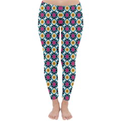 Cute abstract Pattern background Winter Leggings