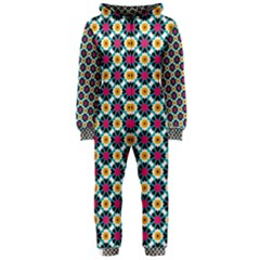 Cute abstract Pattern background Hooded Jumpsuit (Ladies)