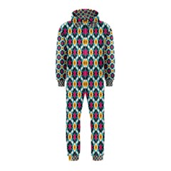 Cute abstract Pattern background Hooded Jumpsuit (Kids)