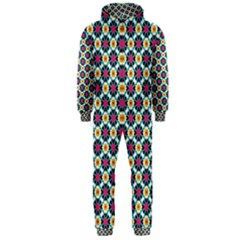 Cute Abstract Pattern Background Hooded Jumpsuit (men)