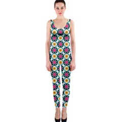 Cute abstract Pattern background OnePiece Catsuits