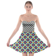Cute Abstract Pattern Background Strapless Bra Top Dress