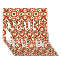 Cute Pretty Elegant Pattern You Did It 3d Greeting Card (7x5)