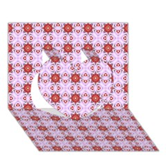 Cute Pretty Elegant Pattern Heart 3D Greeting Card (7x5)