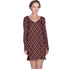 Cute Pretty Elegant Pattern Long Sleeve Nightdresses