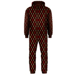 Cute Pretty Elegant Pattern Hooded Jumpsuit (men)