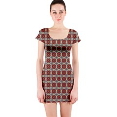 Cute Pretty Elegant Pattern Short Sleeve Bodycon Dresses