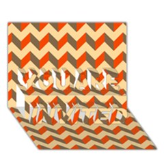 Modern Retro Chevron Patchwork Pattern  You Are Invited 3d Greeting Card (7x5)