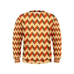 Modern Retro Chevron Patchwork Pattern  Boys  Sweatshirts