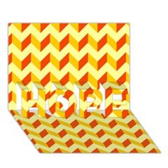 Modern Retro Chevron Patchwork Pattern  HOPE 3D Greeting Card (7x5)