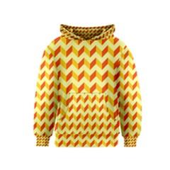 Modern Retro Chevron Patchwork Pattern  Kid s Pullover Hoodies