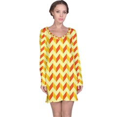 Modern Retro Chevron Patchwork Pattern  Long Sleeve Nightdresses
