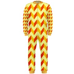 Modern Retro Chevron Patchwork Pattern  Onepiece Jumpsuit (men)