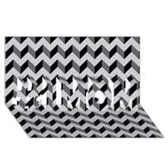 Modern Retro Chevron Patchwork Pattern  #1 MOM 3D Greeting Cards (8x4)