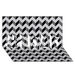 Modern Retro Chevron Patchwork Pattern  #1 Dad 3d Greeting Card (8x4)