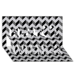Modern Retro Chevron Patchwork Pattern  Best Wish 3d Greeting Card (8x4)