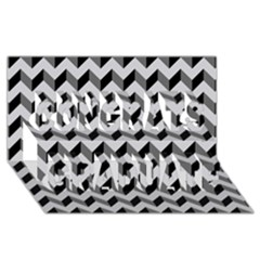 Modern Retro Chevron Patchwork Pattern  Congrats Graduate 3d Greeting Card (8x4)
