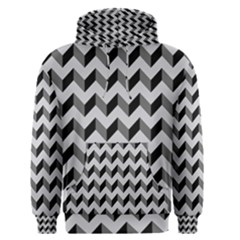Modern Retro Chevron Patchwork Pattern  Men s Pullover Hoodies