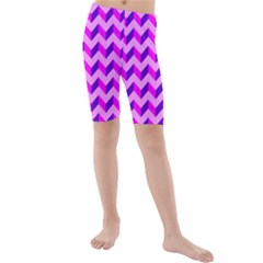 Modern Retro Chevron Patchwork Pattern Kid s swimwear