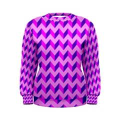Modern Retro Chevron Patchwork Pattern Women s Sweatshirts