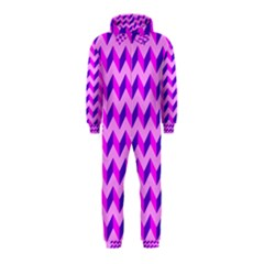 Modern Retro Chevron Patchwork Pattern Hooded Jumpsuit (Kids)