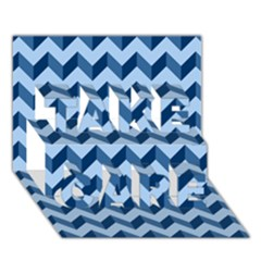 Modern Retro Chevron Patchwork Pattern Take Care 3d Greeting Card (7x5)