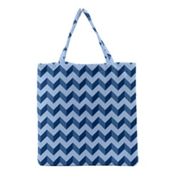 Modern Retro Chevron Patchwork Pattern Grocery Tote Bags