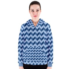 Modern Retro Chevron Patchwork Pattern Women s Zipper Hoodies