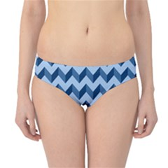 Modern Retro Chevron Patchwork Pattern Hipster Bikini Bottoms